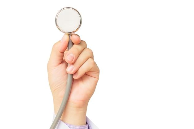 Le docteur va examiner son patient avec son stéthoscope Photo gratuit
