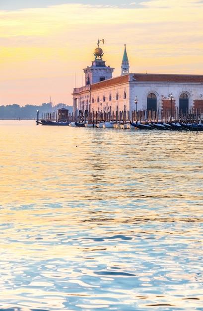 Dogana Da Mar, Venise, Italie, Tôt Le Matin Photo Premium