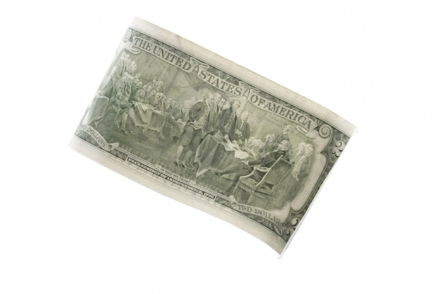 Dollar isolé sur blanc Photo Premium