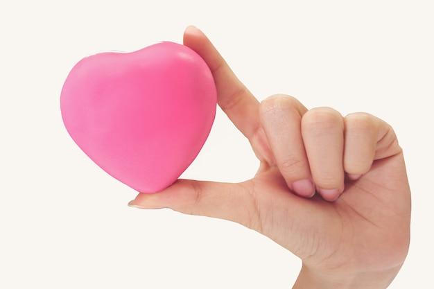 Donne un coeur rose et t'aime Photo Premium