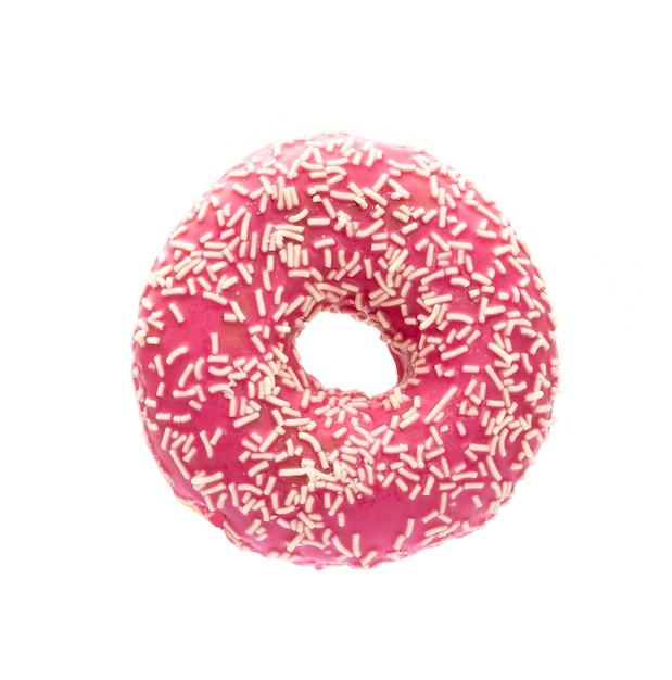 Donut Isolé Sur Un Blanc Photo Premium