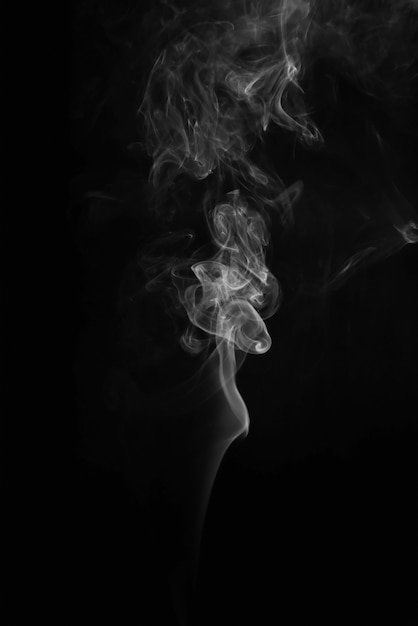 Dos abstrait et fumée blanche Photo Premium