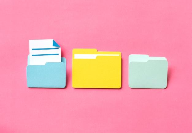 Dossier d'artisanat d'art en papier Photo Premium