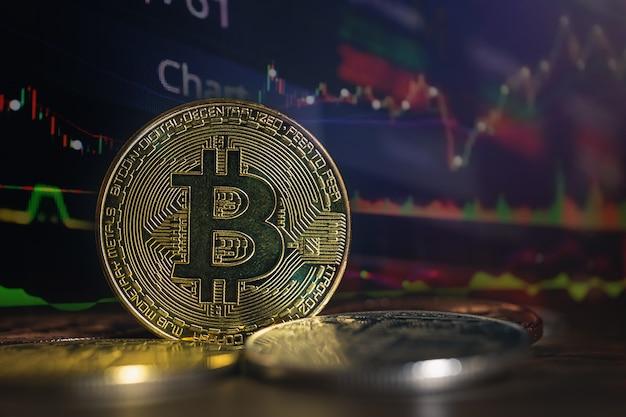 Double exposition de bitcoin à la croissance économique Photo Premium