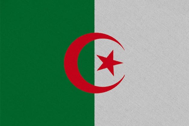 Drapeau Algérie En Tissu Photo Premium