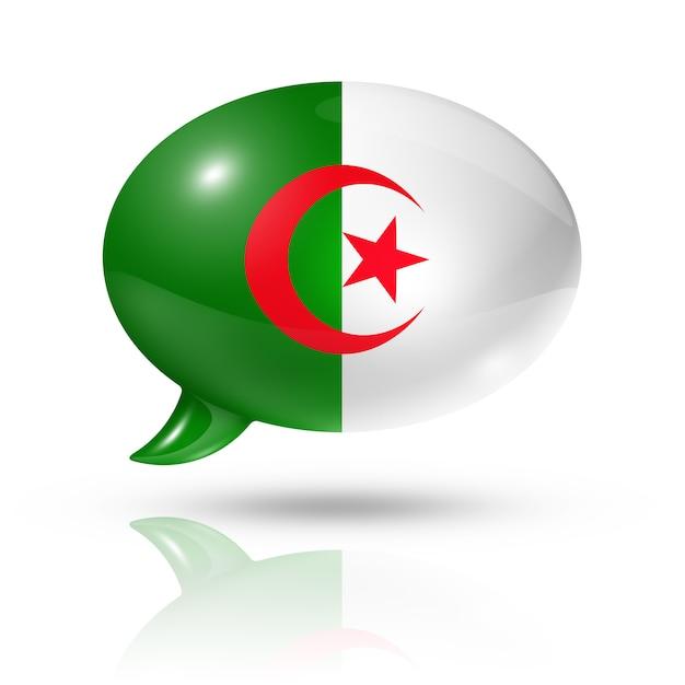 Drapeau Algérien Photo Premium