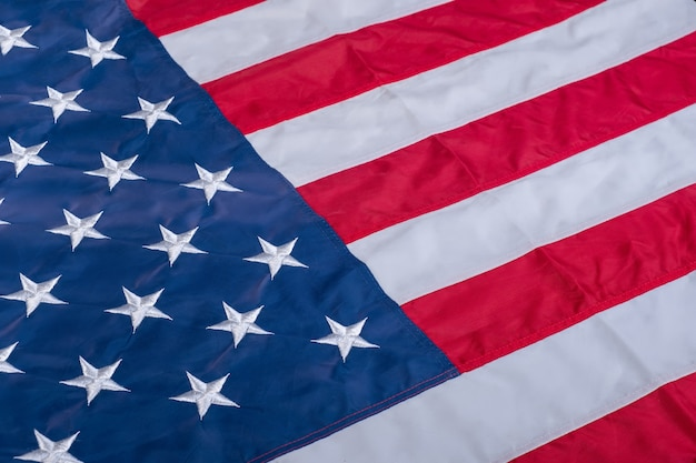 Drapeau américain se bouchent Photo Premium