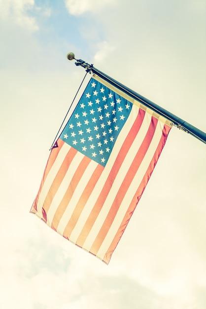 Drapeau américain Photo gratuit