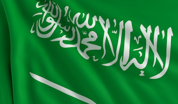 Drapeau de l'arabie saoudite Photo Premium
