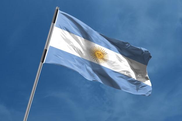 Drapeau De L'argentine En Agitant Photo Premium