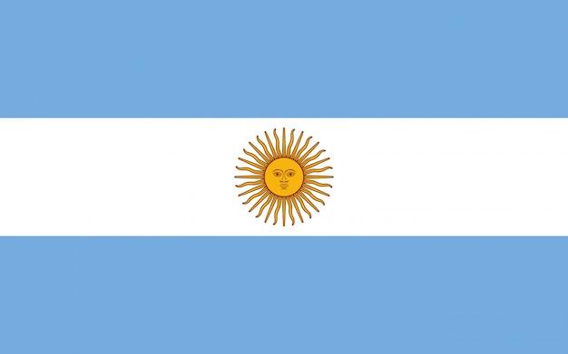 Drapeau De L'argentine. Illustration Du Drapeau Argentin. Photo Premium