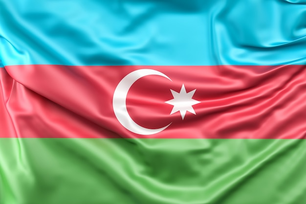 Drapeau de l'azerbaïdjan Photo gratuit
