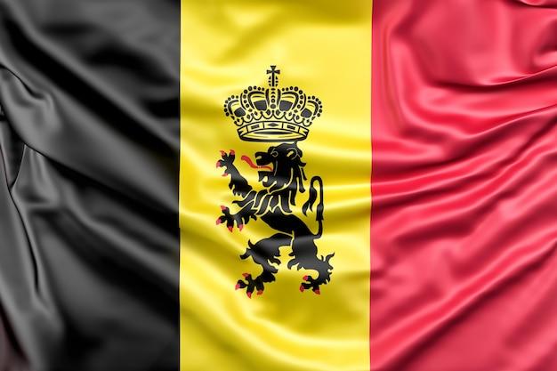 Drapeau De La Belgique Avec L'enseigne Photo gratuit