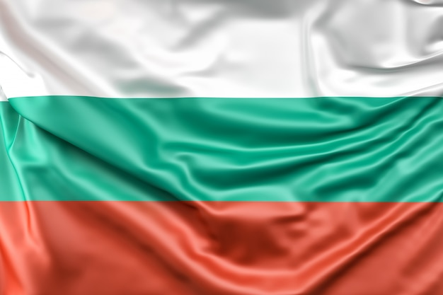 Drapeau de la bulgarie Photo gratuit