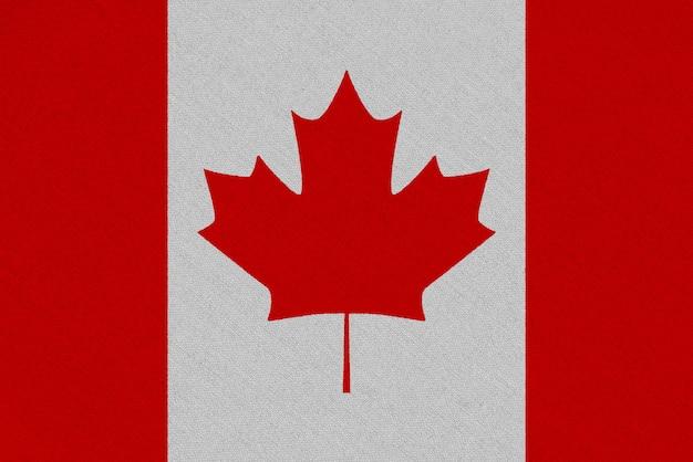 Drapeau Canada En Tissu Photo Premium