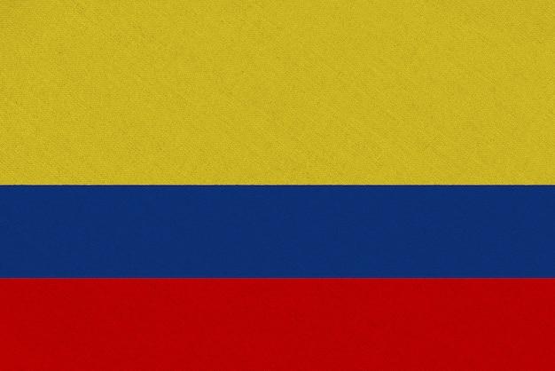 Drapeau De La Colombie En Tissu Photo Premium