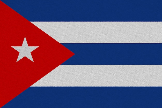 Drapeau Cuba En Tissu Photo Premium