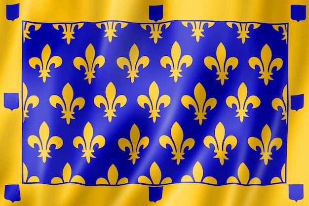Drapeau Du Comté D'ardèche, France Photo Premium