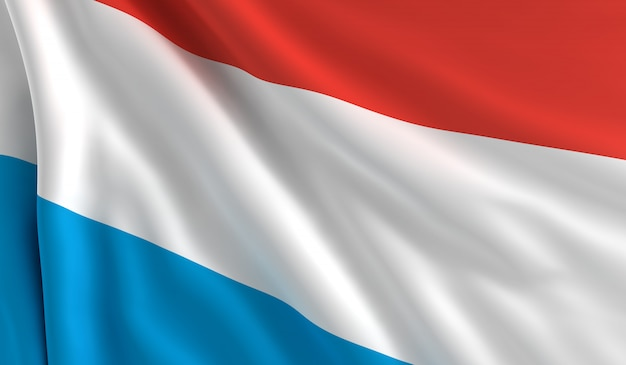 Drapeau Du Luxembourg Photo Premium