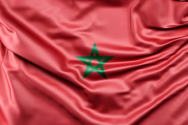 Drapeau du maroc Photo gratuit