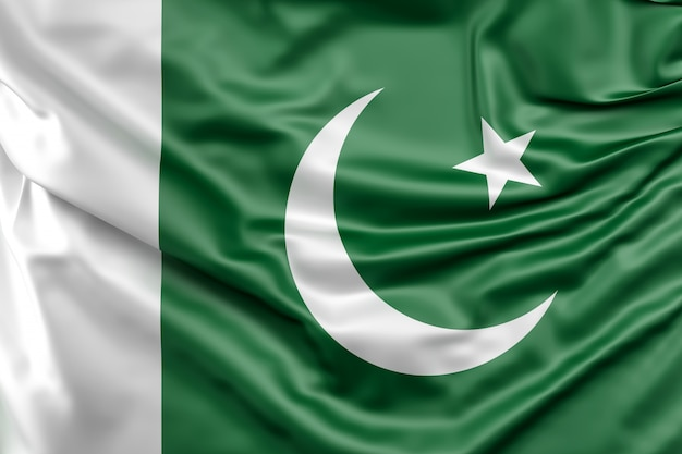 Drapeau du pakistan Photo gratuit
