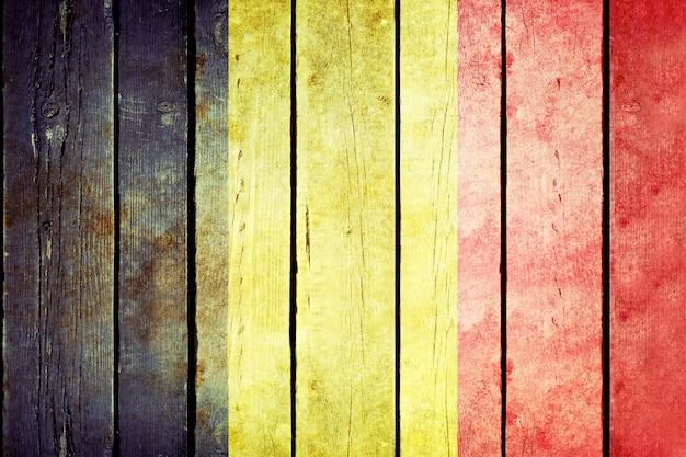Drapeau Grunge En Bois De Belgique Photo gratuit