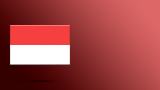 Drapeau De L'indonésie Sur Une Plate-forme Réaliste Photo Premium