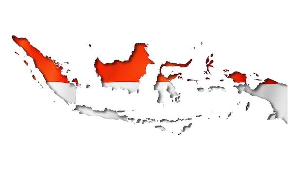 Drapeau indonésien Photo Premium