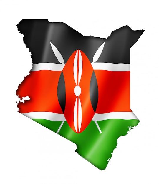 Drapeau kenyan Photo Premium