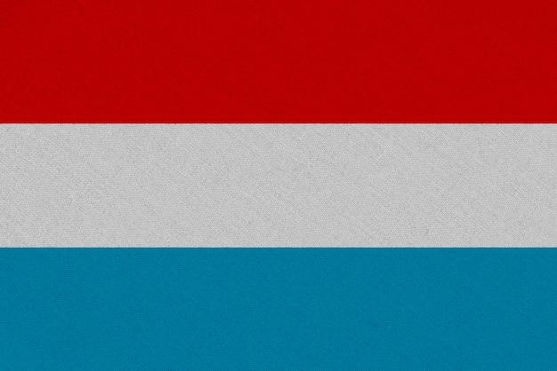 Drapeau Luxembourg En Tissu Photo Premium