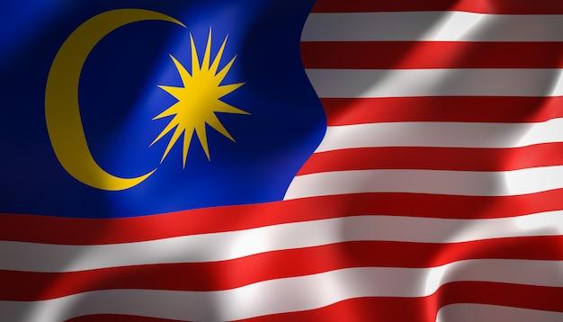 Drapeau malaisie Photo Premium