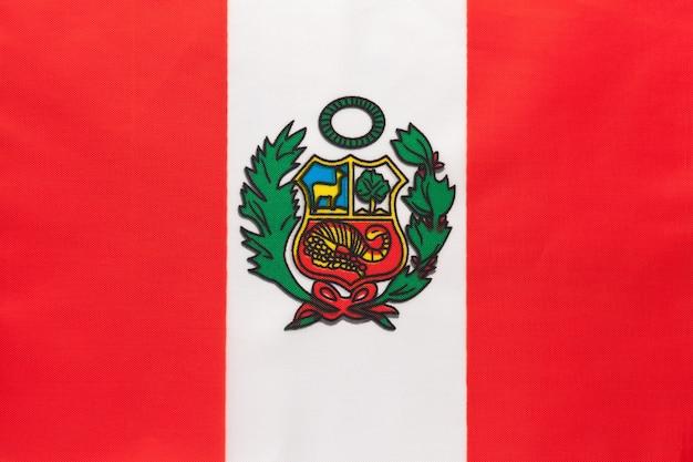 Drapeau National Du Pérou Photo Premium