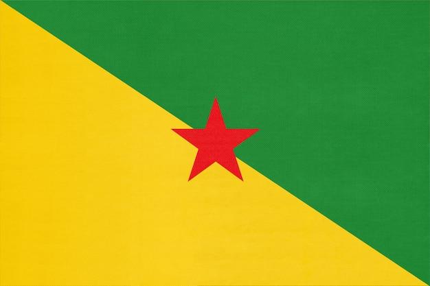 Drapeau National De La Guyane Française, Fond Textile. Symbole Du Monde International Amérique Pays. Photo Premium