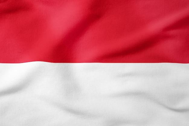 Drapeau national de l'indonésie - symbole patriotique de forme rectangulaire Photo Premium
