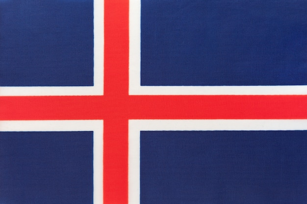 Drapeau national de l'islande, fond textile, symbole du pays européen international, Photo Premium