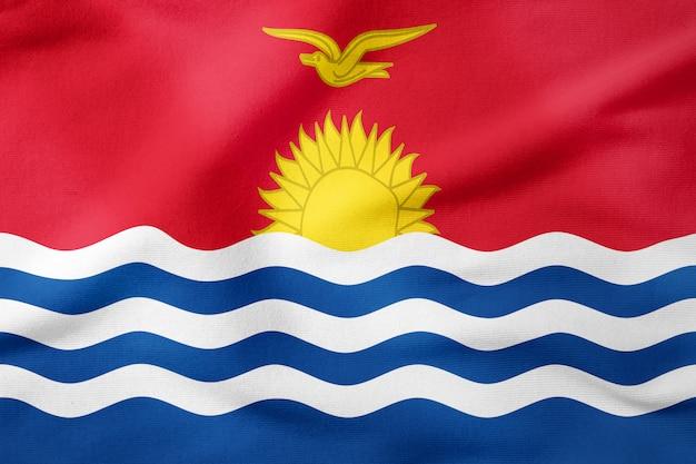 Drapeau national de kiribati - symbole patriotique de forme rectangulaire Photo Premium