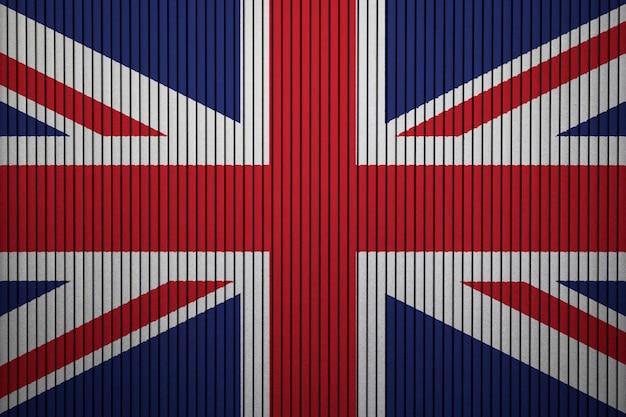 Drapeau national peint du royaume-uni sur un mur de béton Photo Premium