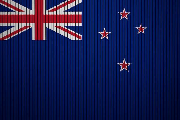 Drapeau National Peint De La Nouvelle-zélande Sur Un Mur De Béton Photo Premium