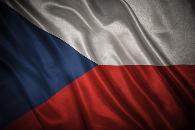 Drapeau De La République Tchèque Photo Premium