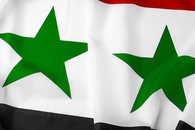 Drapeau Syrie Tissu Photo Premium