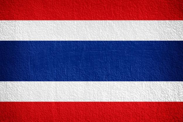 Drapeau de la thaïlande peint sur le mur de grunge Photo Premium