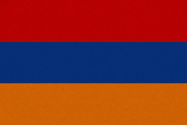 Drapeau En Tissu Arménie Photo Premium