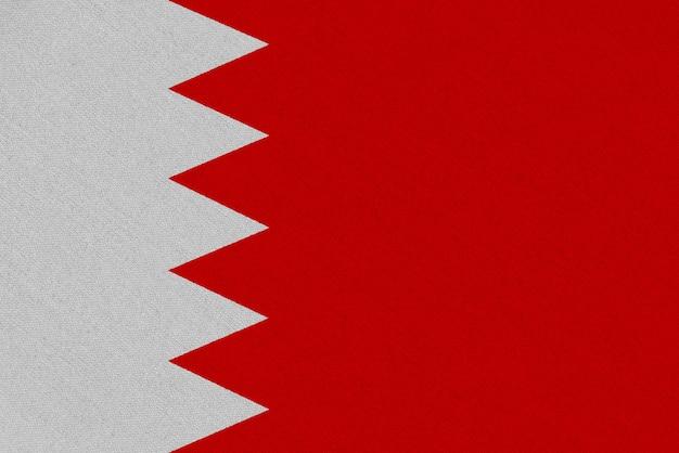 Drapeau Tissu Bahreïn Photo Premium
