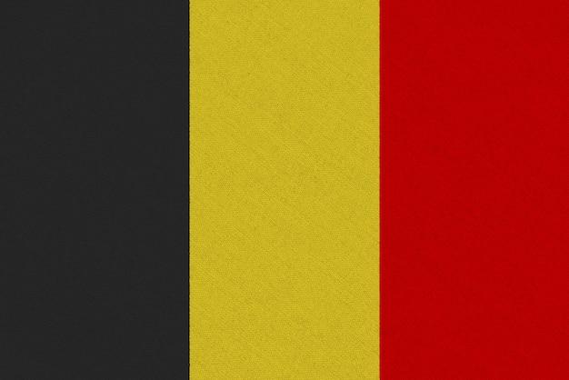 Drapeau Tissu Belgique Photo Premium