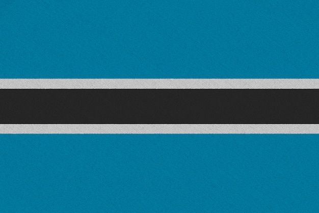 Drapeau En Tissu Botswana Photo Premium