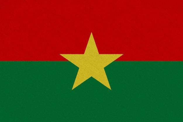 Drapeau En Tissu Burkina Faso Photo Premium