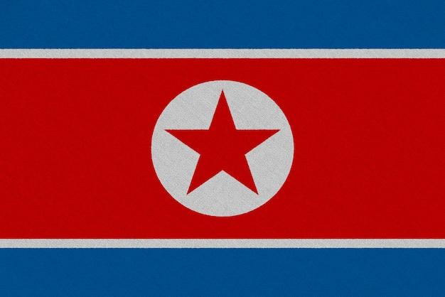 Drapeau Tissu Corée Du Nord Photo Premium