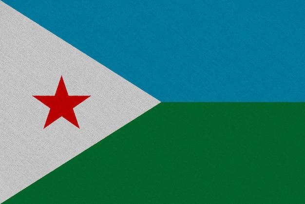 Drapeau Tissu Djibouti Photo Premium