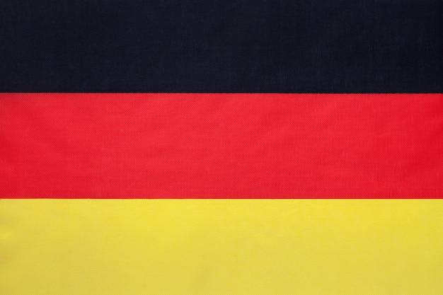 Drapeau de tissu national allemand Photo Premium
