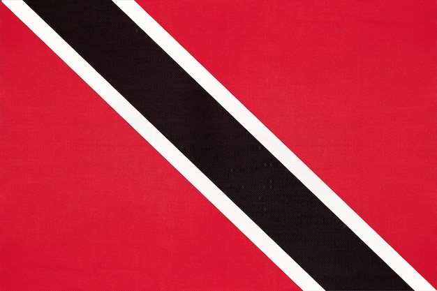 Drapeau de tissu national de trinité-et-tobago Photo Premium